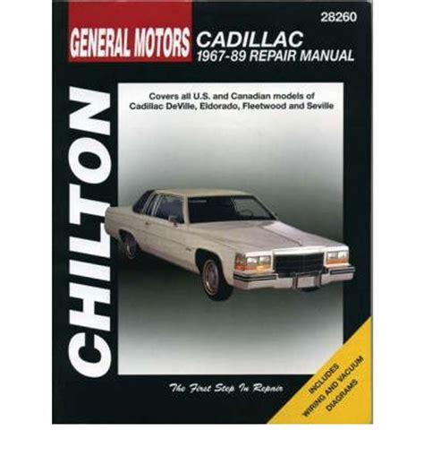 free auto repair manual for a 2012 cadillac gm cadillac 1967 89 repair manual sagin workshop car