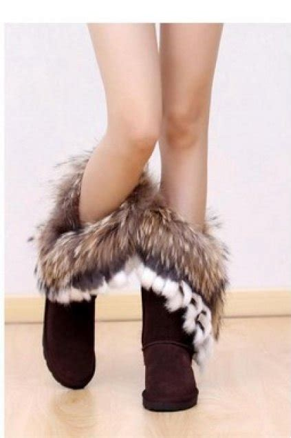 Shoes :: Boots :: Rabbit Fur Suede ESKIMO LONG FURRY YETI WINTER SNOW Boots