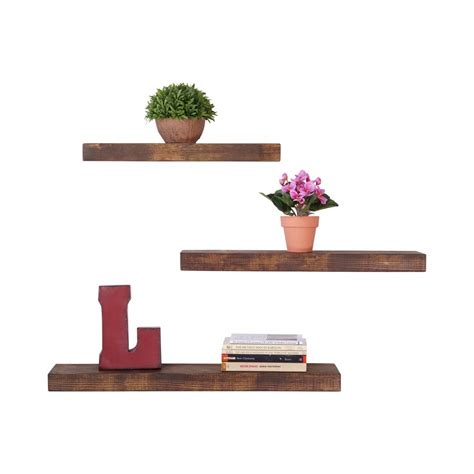Shelf Sets by Groopdealz Set Of 3 True Floating Shelves
