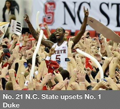 why nc state basketball beat number one duke superior