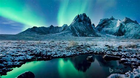 beautiful aurora icefield  bing theme wallpaper