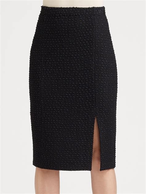 knit pencil skirt st textured knit pencil skirt in black caviar lyst