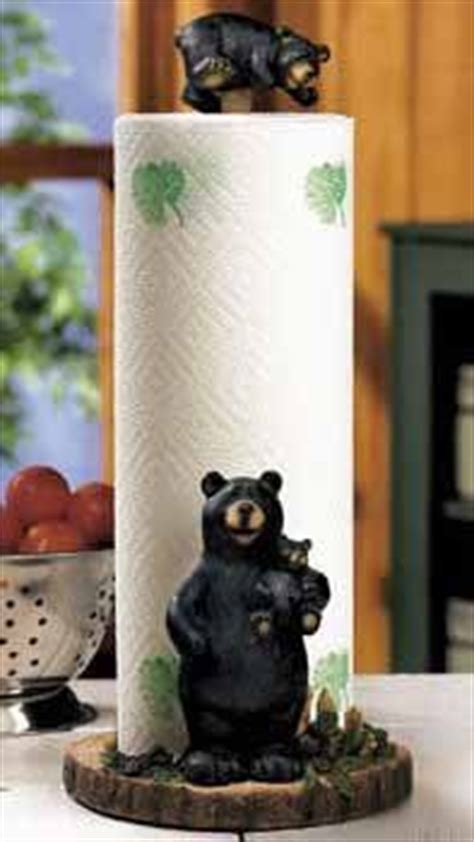 black bear decorations home amazon com lodge black bear kitchen paper towel holder