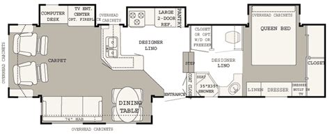 hitchhiker rv floor plans 2005 nu wa hitchhiker champagne 35ck