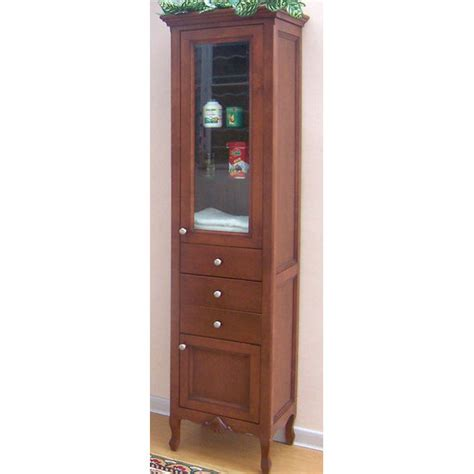 bathroom storage cinnamon kensington curio cabinet by