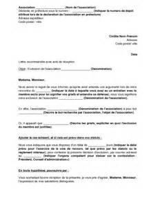 modele lettre de demission du bureau d une association