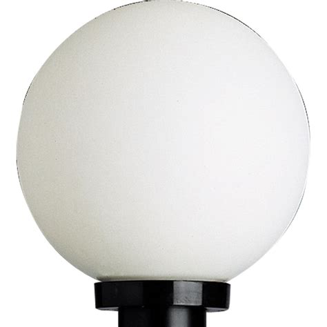 progress lighting white acrylic globe outdoor post lantern