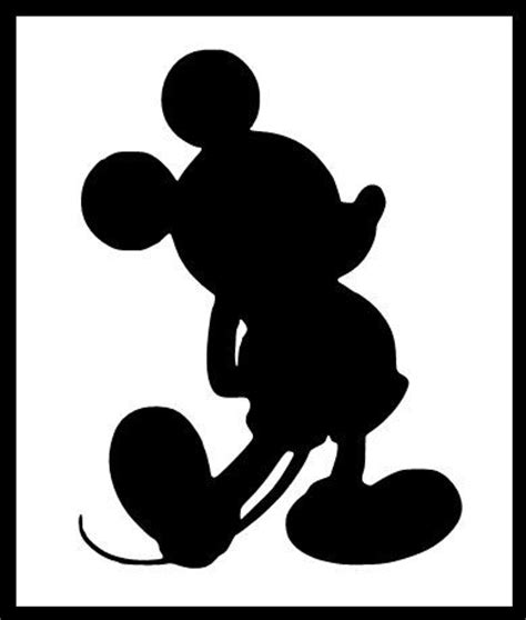 Mickey Mouse Silhouette Clip by Free Silhouette Mickey Mouse Free Clip Free