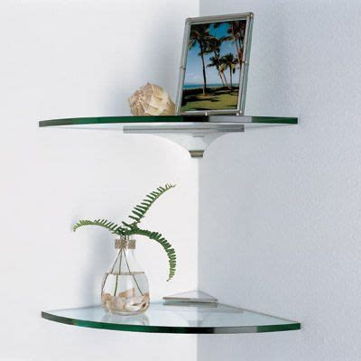 best 25 glass corner shelves ideas on glass