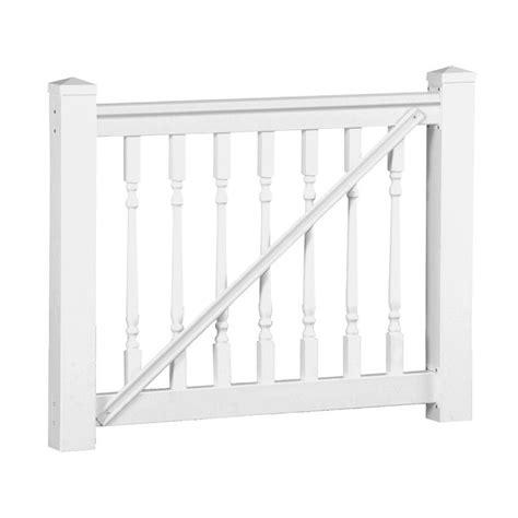 weatherables delray 36 in x 60 in vinyl white gate rail