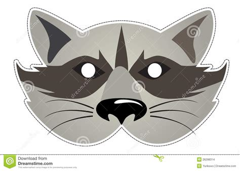printable raccoon mask mask raccoon stock vector image of festival illustration