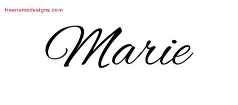 marie archives free name designs