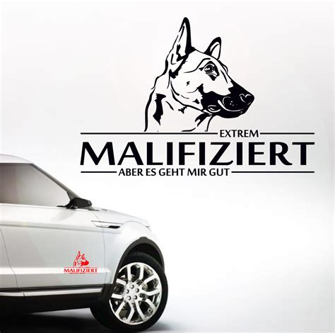 Aufkleber Hund by Auto Aufkleber Malifiziert Malinois Infiziert Hund Hunde