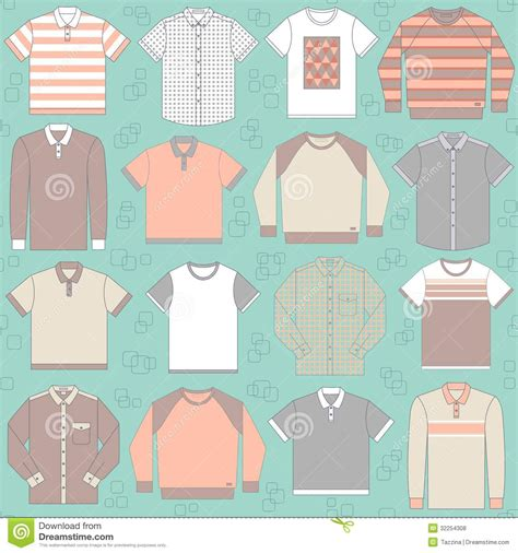 z pattern in graphic design seamless pattern with clothing for men stock vector