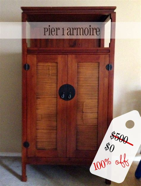 pier 1 armoire pier 1 armoire for free valued at 500 secondhand sunday
