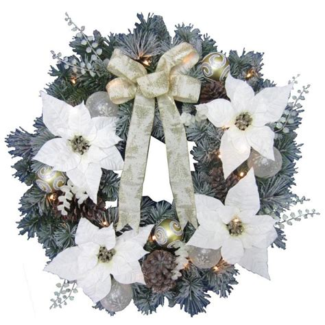 Shop Holiday Living 30 In Pre Lit Indoor Outdoor Outdoor Lighted Wreaths