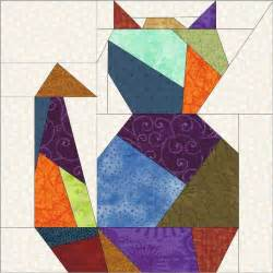 cat two paper quilt block by madcreekdesigns