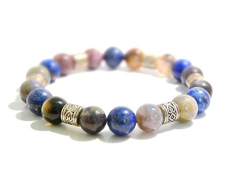 elastic for jewelry mens bracelet mens lapis jewelry elastic stretched boho