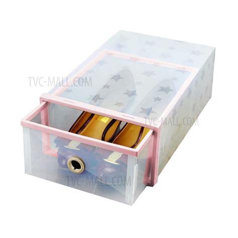 diy shoe drawer 6pcs lot transparent rectangle pp shoes organizer shoes