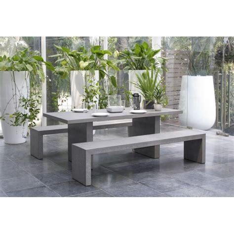Banc Salon by Salon De Jardin Aspect B 233 Ton Table 200x90x75cm 2 Bancs