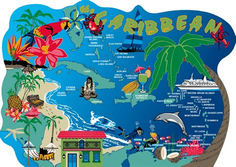 caribbean map the cat s meow village