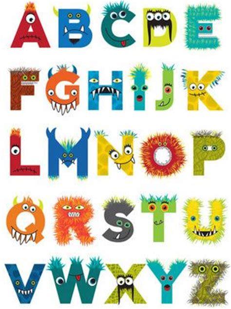 free printable monster alphabet letters monster alphabet monsters pinterest