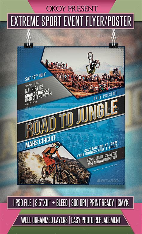 Download Extreme Sport Event Flyer Poster Wordpress Themes Html Templates Php Scripts Sports Event Flyer Template Free