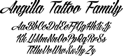 pictures tattoo letter fonts angilla tattoo font family by m 229 ns greb 228 ck font bros