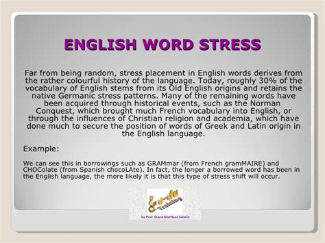 stress pattern english language english word stress 2012