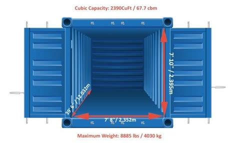 loading a 40 foot shipping container movehub