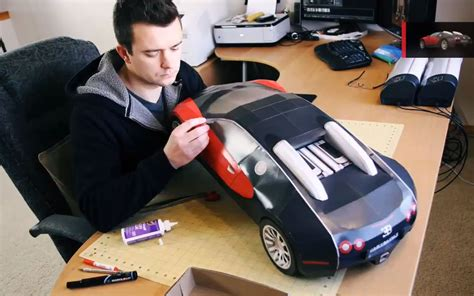 finds build your own paper veyron the