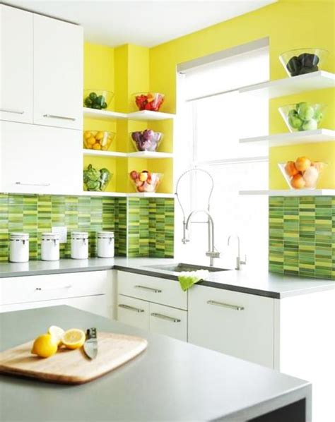 kitchen green walls 20 modern kitchens decorated in yellow and green colors