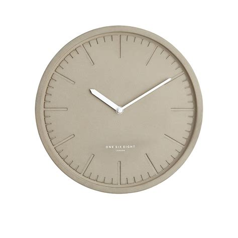 Simone Concrete Silent Wall Clock 30cm One Six Eight London | wall clocks kitchen warehouse australia
