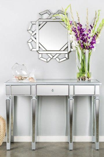 hautelook home decor amelis mirrored console table by posh home accents on
