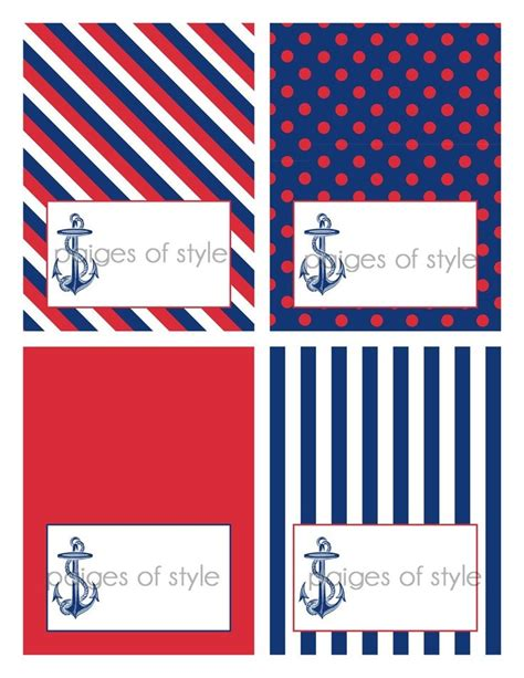 Printable Nautical Labels | diy printable nautical food label tents ahoy it s a boy