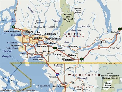 map of canada west vancouver maps navigate easily around vancouver with