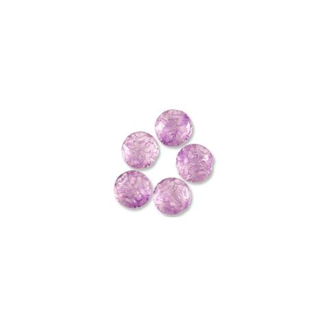 Violet In 13mm bead pressed glass button bead 13mm violet