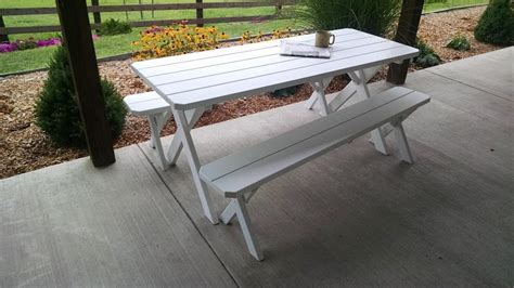 Pine Patio Furniture Pine Table And Bench Patio Set From Dutchcrafters Amish Furnitue