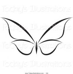 Flying Butterfly Outline by Clipart Of A Black And White Flying Butterfly Logo With Wings Expanded By 125