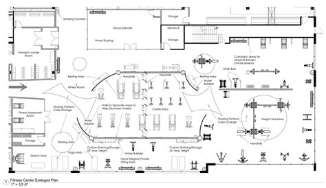 fitness center floor plan samantha weinstein interior design portfolio wix com