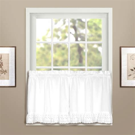 united curtain vienna eyelet kitchen curtain window treatments