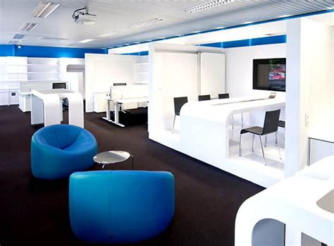 Office And Chairs Design Ideas Modern Office Interior Design And Stylish Blue Chair The Corporate Office Second Or