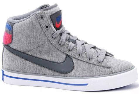 shoes grey fabric high top sneakers nike high tops