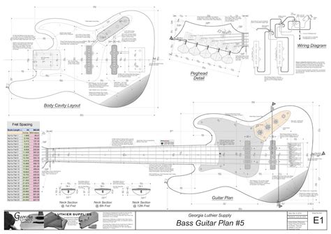 bass guitar templates bass guitar plans 5 electronic version highway 1 jazz