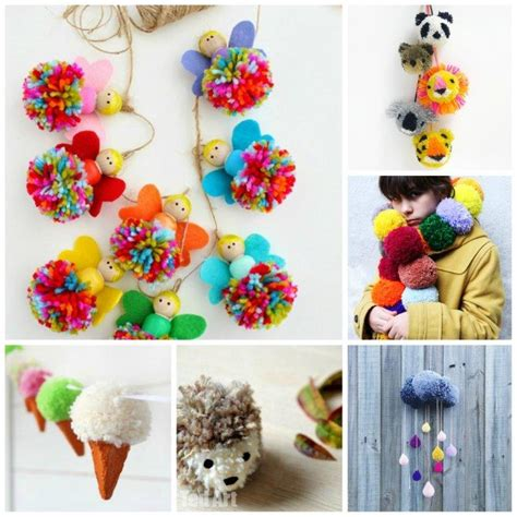 crafts for to make 25 pom pom crafts to make you pom pom