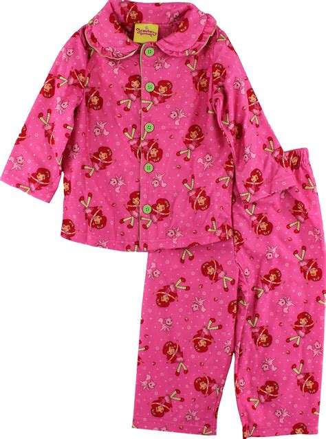 Pajamas Strawberry by Strawberry Shortcake Toddler Flannel Pajamas