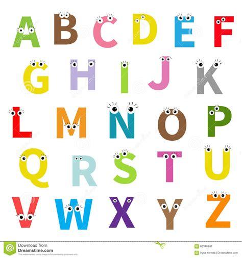 Gratis Illustratie S Brief Alfabet Alfabetisch Abc alfabet engelse abc brieven met gezicht ogen