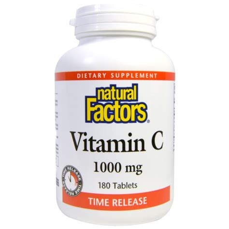 factors vitamin c time release 1000 mg 180