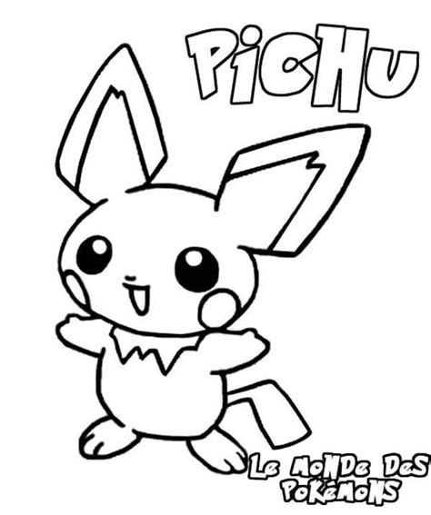 pokemon coloring pages pichu pokemon pichu coloring pages bulk color