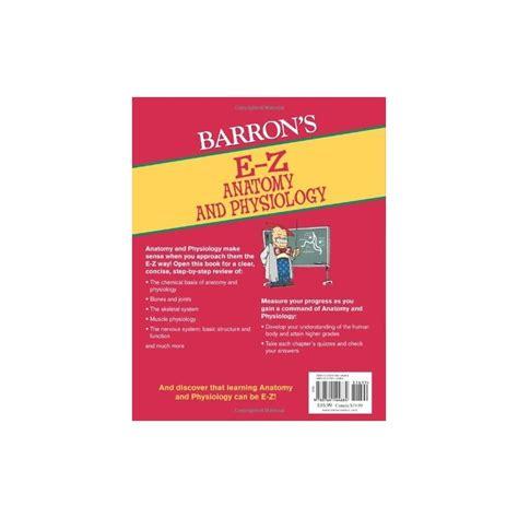 barron s anatomy coloring book barron s e z anatomy and physiology